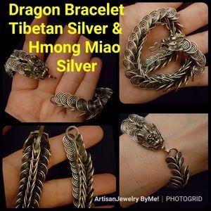 Artisan Dragon Chain Link Tibet Miao Silver